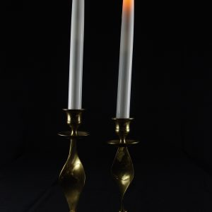 2-Piece Warm LED Taper Candles