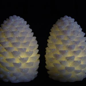 Flameless Pinecone Candles with Timer