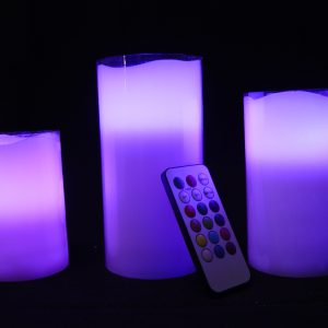 3-Piece 18 Keys Flameless LED Candle Set